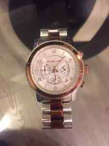 Michael Kors Authentic Two Tone Runway Watch