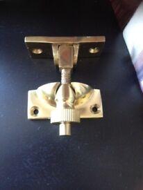 Brass sash window fasteners