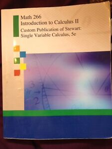 Math 266 Introduction to Calculus II