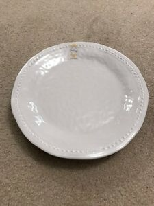 Set of 4 White Nicole Miller Plate