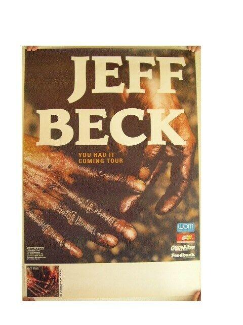 Jeff Beck German Concert Tour Poster