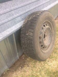 Set of winter tires on steel rims