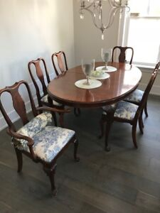 Dining mahogany table set