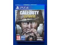 """PS4 - Call of Duty """"WWII"""" - bought from new - hardly used - excellent condition"""