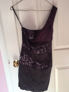 Ark & Co Form Fitting Dark Purple Dress - Worn Once - Size Small