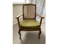Woven-back chair