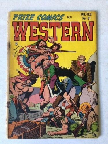 "Prize Comics Western #91 ""Buffalo Stampede!"" Good Condition Loose Golden Age 10c"