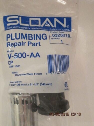 "SLOAN 0323015 V-500-AA-CP 1.5"" X 21.5""  Vacuum BREAK- FREE SHIP NEW SEALED PACK!"