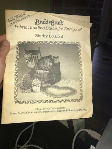 Braid Craft Fabric Braiding Basics for Everyone by Shirley Botsford