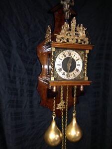 Vintage 8 Day Dutch Zaanse Zaandam Clock