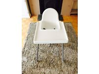 Ikea High chair with table