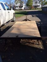 Flat Deck Utility Trailer with ownership