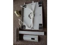 "Haropa Tilt & Swivel 14"" CRT Portable TV Wall Mount Bracket Arm, Shelf and strap"