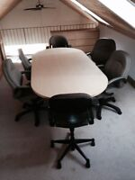 small board room table and four chairs