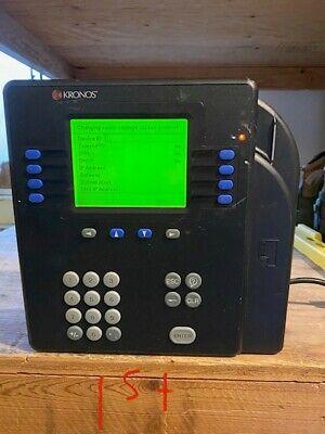 4 Kronos System 4500 model 8602800-501 Digital Time Clocks with Badge Reader