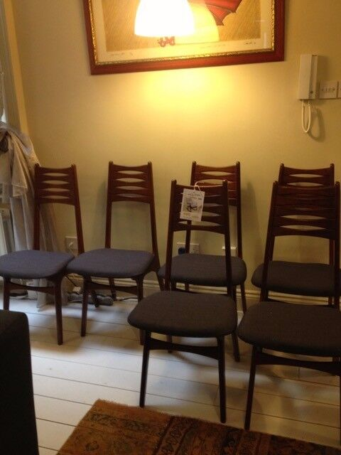 Danish rosewood Ladderback chairs