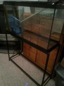 40gal. fish tank with metal stand