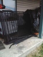 LARGE BLACK WELDED WIRE COSTCO DOG KENNEL