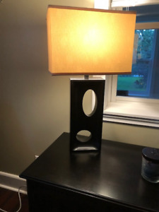 Two modern lamps- rectangular shades