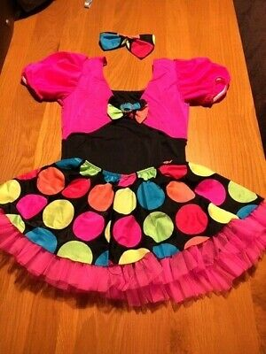 Dansco CXL Funky Spots 3 Piece Modern Jazz Tap Dance Costume Pink (Funky Modern Dance Kostüm)