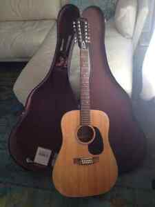 Yamaki Deluxe Folk 12 String, EXCELLENT Condition (Case Included