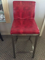 Red Ritz Counter Chairs ** 3 In Stock** Amazing Colour!!