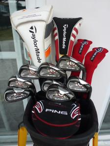 Superbe ensemble golf Taylormade R1, BURNER 2.0 et Callaway