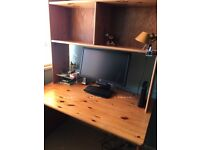 John Lewis Pine Desk and Shelves