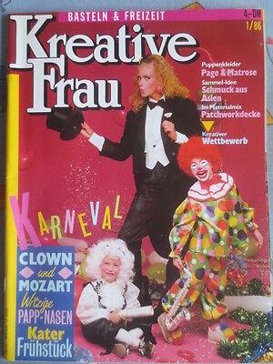 Kreative Frau: 1/1986, Trachtenhüte, Clowns, Patchwork, Karnevalkostüme, - Clown Hüte