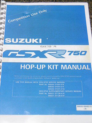 SUZUKI GSXR 750 Slingshot Hop-up kit manual competition racing enhancements.