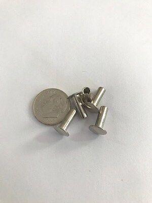 175 Pcs. Steel Nickel Semi Tubular Rivets 964dia X 316 Grip . 516 Head Dia
