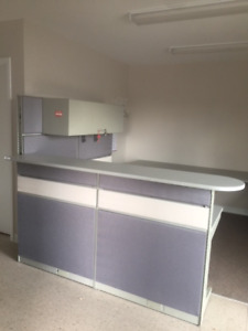 Used Office Furniture for Sale- Reception Station and 4 cubicle