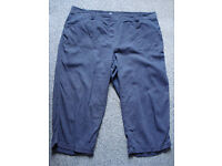 FOR SALE - WOMENS 3/4 CROPPED LINEN-MIX TROUSERS MIXED COLOURS SIZE 20/22 £4 each