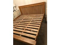 Super King Oak Bed Frame For Sale £60.00. Very Good Condition. Buyer to Collect .