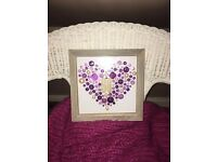 Personalised Box Framed Hearts