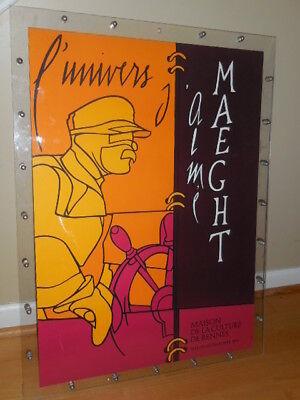 Valerio Adami-Original 1979's  lithograph Art poster-L'Univers J'alme' Maeght for sale  Weaverville