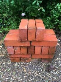 Hand made red bricks