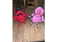 Child camping chair x 2