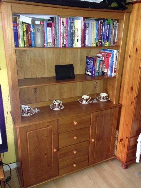 Rio 2 Door 4 Drawer Display Cabinet Solid Pine In