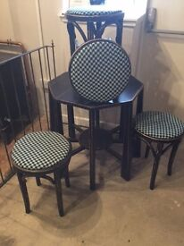 Upcycled Time Worn Finish Table & 4 Chairs