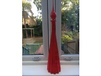 Tall Red Glass Ornament- Unusual Bottle with stopper