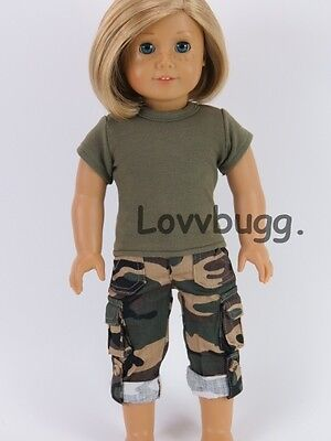 "Lovvbugg Army Camo Pants Fatigues for 18"" American Girl Doll Clothes"