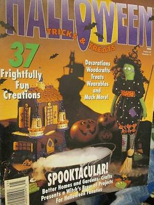 Halloween Tricks & Treats 1994 Craft Magazine -37 Projects- Witches/House/Pumpki ()