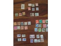 Variety of international stamps