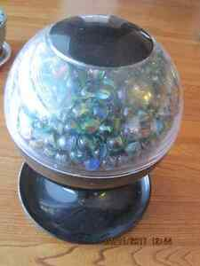 Automatic Gumball Dispenser full of Cat's Eye Marbles