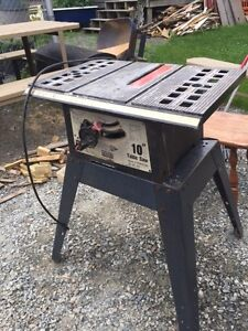 10'' table saw with stand (no fence)