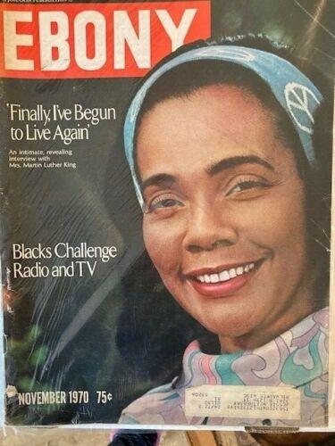 Vintage Ebony Magazine Nov 1970 Coretta Scott King