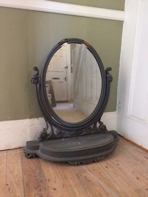 Antique Grey Dressing Table Mirror In Chapel Allerton West