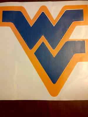 Wvu West Virginia Mountaineers Football Basketball Large Decal Sticker