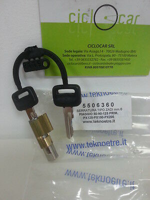 LOCK KEYS TYP ZADI MM 6 VESPA 50-90-125-PX 125-150-200 TYP LARGO-SHORT